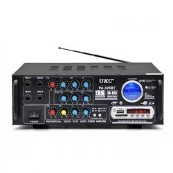 Усилвател Стерео 120 W , Bluetooth, Mp3 Player, FM Radio, USB, SD - UKC PA-325BT