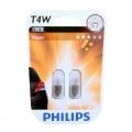 Комплект 2 допълнителни халогенни крушки Philips T4W, 12V, 4W