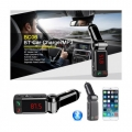 Луксозен Bluetooth FM трансмитер с USB зарядно за GSM, Bluetooth Car Charger
